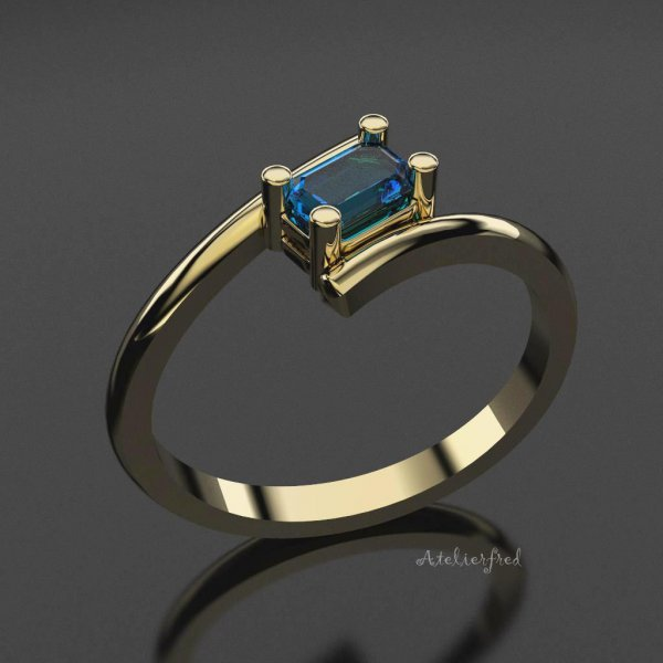 ring Emerald a