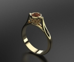 kathedraal ring 17.5mm